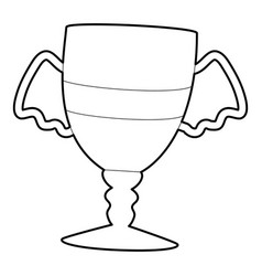 Winner cup icon outline style vector