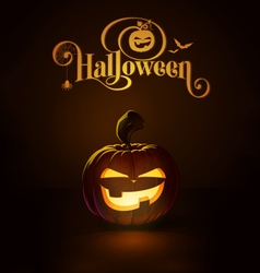 Jack o lantern dark mean vector
