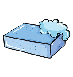 A blue soap vector