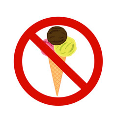 Forbidding signs no ice-cream vector
