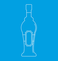 Alcohol bottle icon outline style vector