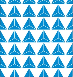 seamless of blue abstract triangle background vector image