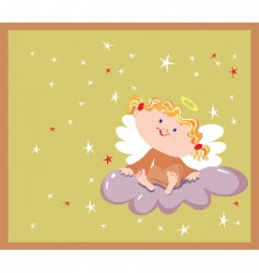 cartoon angel vector image