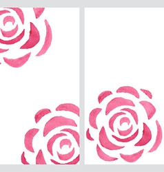 Vertical banners with watercolor roses vector image