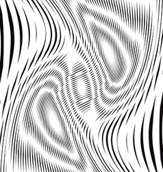 Optical creative black and white graphic moire vector