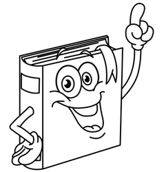 Outlined book cartoon vector