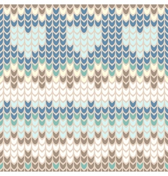 Seamless pattern with gentle winter knitting trace vector