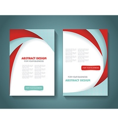 Abstract brochure flyer design with color paper vector