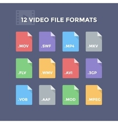 Video file formats vector