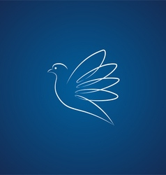 Dove logo over blue vector