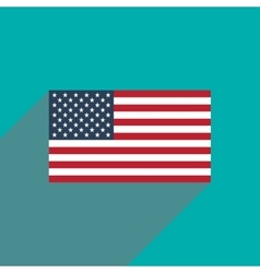Flat icon with long shadow american flag vector