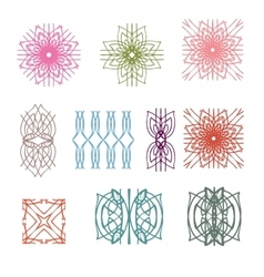 The collection of colorful design elements pattern vector