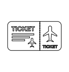 Flight ticket isolated icon design vector