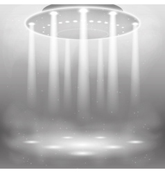 Alien and ufo background vector