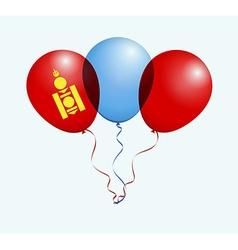 Balloons in as mongolia national flag vector