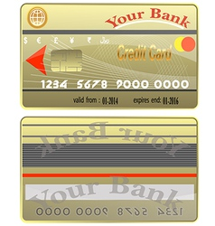 Bank card credit world stack colour bank finance p vector