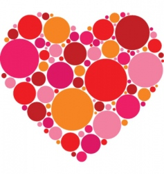 circle heart vector image