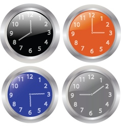 clocks 2 vector image vector image