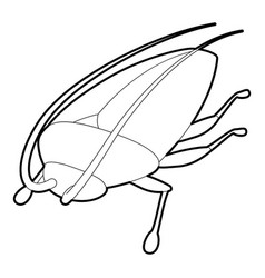 Cockroach icon outline style vector