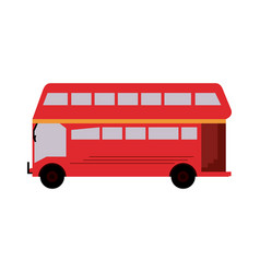 Double decker bus london icon image vector