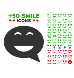 Glad smiley message icon with bonus avatar clipart vector