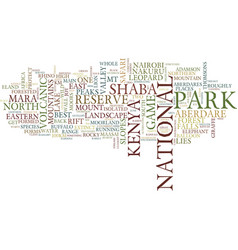 Great tour to kenya text background word cloud vector