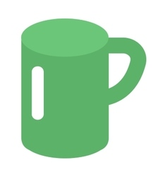 Green cup vector image