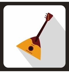 Guitar triangle icon flat style vector image