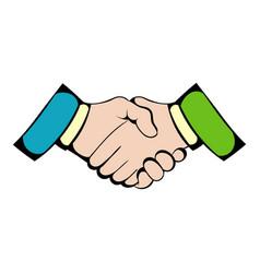 Handshake icon icon cartoon vector