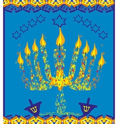 Hanukkah menorah abstract card vector