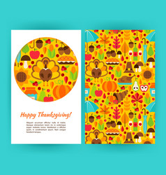 Happy thanksgiving flyer template vector