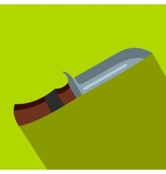 Hunting knife flat icon vector