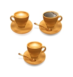 Ice cream and cup of coffee vector