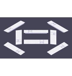 Isometric PC keyboard vector image vector image