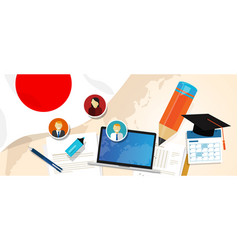 japan education school university concept with vector image