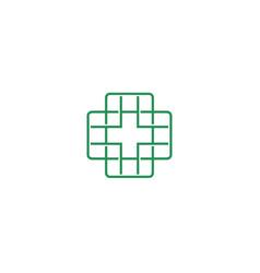 medical icon logo icon design template vector image