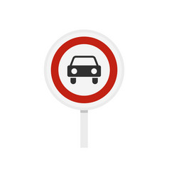movement of motor vehicles is forbidden icon vector image
