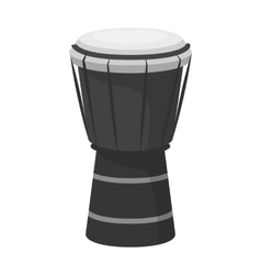 National brazilian drum icon in monochrome style vector