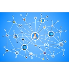 Network vector image vector image