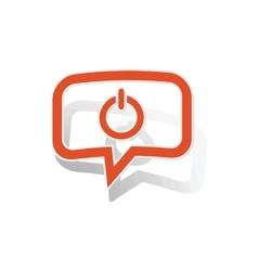 Power message sticker orange vector