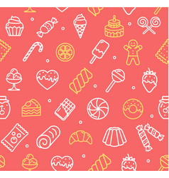 Sweets and bakery pattern background vector