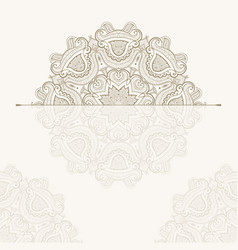 template of oriental greeting card or invitation vector image vector image
