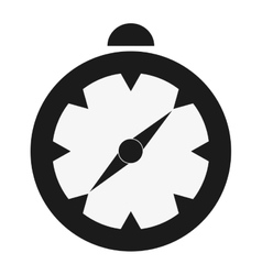 Single compass icon vector