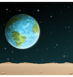 Earth rise vector