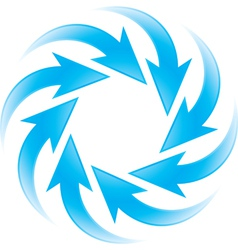 Turning blue arrows vector