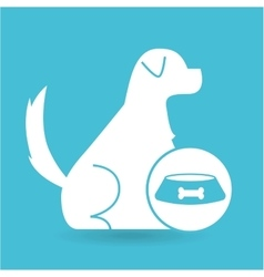 Veterinary clinic concept food bowl vector