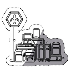 Isolated baggage design vector