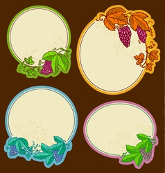 Grape frames vector