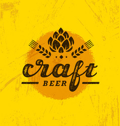 Craft beer brewery artisan creative stamp vector
