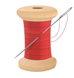 Spool thread needle vector